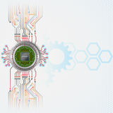 Abstract technology background with Processor Chip Stock Photos