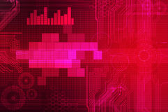 Abstract technology background purple Royalty Free Stock Photos