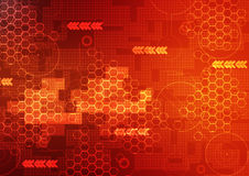 Abstract technology background red Royalty Free Stock Images