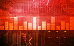 Abstract technology background red Royalty Free Stock Photography