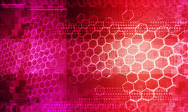 Abstract technology background red Royalty Free Stock Photo