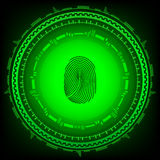 Abstract technology background.Security system concept with fingerprint . Eps 10  illustration Stock Images