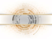 Abstract technology background with strip in the middle,  illustration Royalty Free Stock Images