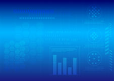 Abstract technology background. Abstract technology template on blue background, Vector Design Stock Photography