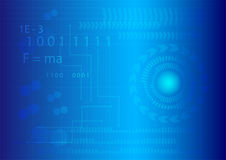 Abstract technology background. Abstract technology template on blue background, Vector Design Royalty Free Stock Images