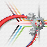 Abstract technology background with Three dimensions gear Stock Photos