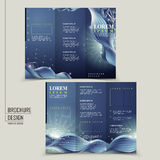 Abstract technology background for tri-fold brochure Royalty Free Stock Photos