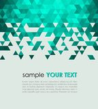 Abstract technology background with triangle stock illustration