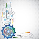 Abstract technology background with various technological elements. Vector Stock Image