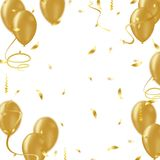 Celebration background with confetti and balloons. Abstract technology background vector business Stock Photography