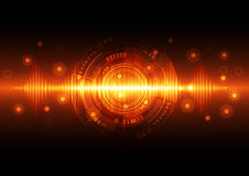 Abstract technology background, vector illustration Stock Photography