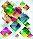 Abstract technology  background vith falling colored boxes. Abstract vector technology  background vith falling colored boxes Royalty Free Stock Photos