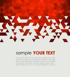 Abstract Technology Background With Triangle Stock Image