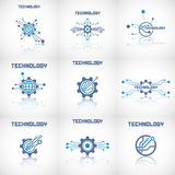 Abstract technology backgrounds. Technology elements with reflect royalty free illustration