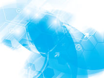 Abstract technology backgrounds. With hexagons stock illustration