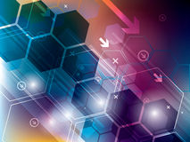Abstract technology backgrounds. With hexagons royalty free illustration