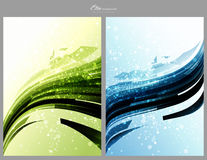 Abstract technology backgrounds templates. Blue and green abstract technology backgrounds templates Royalty Free Stock Photos
