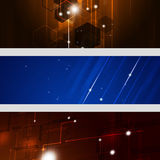 Abstract Technology Banners. Abstract three technology business banners for design royalty free illustration