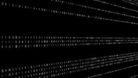 Abstract Technology Binary code Background. Computer Code. Digital flow. Big data and programming hacking. 3D rendering stock illustration