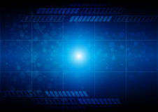 Abstract technology blue background with connection. Vector illu Stock Photo