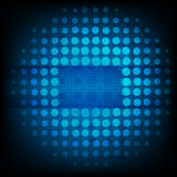 Abstract technology  blue background glow in dark Stock Photo