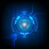 Abstract technology  blue background glow in dark Royalty Free Stock Photos