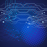Abstract Technology blue  background  illustration eps 10 Stock Photo