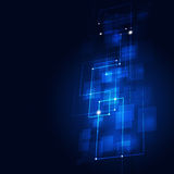 Abstract Technology Blue Background Royalty Free Stock Photography