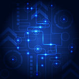 Abstract technology blue background. Vector illustration. Innovation Royalty Free Stock Photos