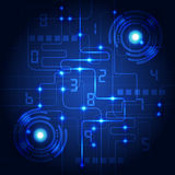 Abstract technology blue background. Vector illustration. Innovation Royalty Free Stock Images