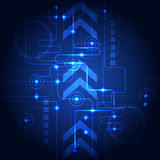 Abstract technology blue background. Vector illustration. Innovation Stock Photo