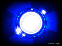 Abstract technology blue colored background with bright flare.vector illustration. Abstract technology blue colored background with bright flare.vector Stock Images