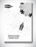 Abstract technology brochure template Royalty Free Stock Image