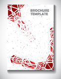 Abstract technology brochure template Stock Images