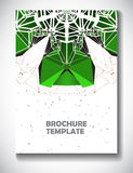 Abstract technology brochure template Royalty Free Stock Photo