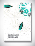 Abstract technology brochure template Stock Photos