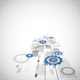 Abstract technology business background, vector illustration Royalty Free Stock Photo