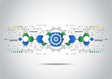 Abstract technology business background, vector illustration. Innovation Royalty Free Stock Photography