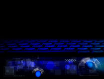 Abstract technology business concept with keyboard Royalty Free Stock Photos