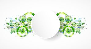 Abstract technology business green colored template background. Royalty Free Stock Image