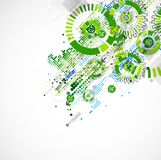 Abstract technology business green colored template background. Stock Photography