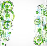 Abstract technology business green colored template background. Stock Image