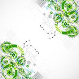 Abstract technology business green colored template background. Royalty Free Stock Photo