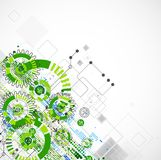 Abstract technology business green colored template background. Stock Photo