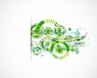 Abstract technology business green colored template background. Royalty Free Stock Images