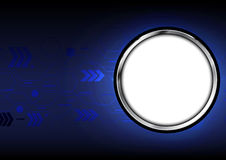 Abstract technology with circle aluminium background Stock Photography