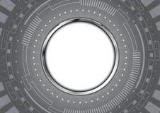 Abstract technology circle aluminium background Stock Photos