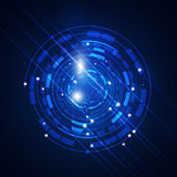 Abstract Technology Circle Blue Background Stock Photography