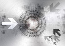 Abstract technology circle metal background Stock Photos
