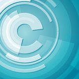 Abstract technology circles background Stock Image